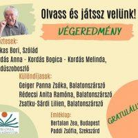 Illyés Gyula Megyei Könyvtár online Csukás István vetélkedőn helyezést elért diákjaink